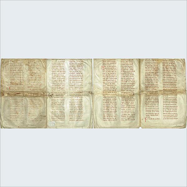 (羅)1100年代中世・聖書写本零葉